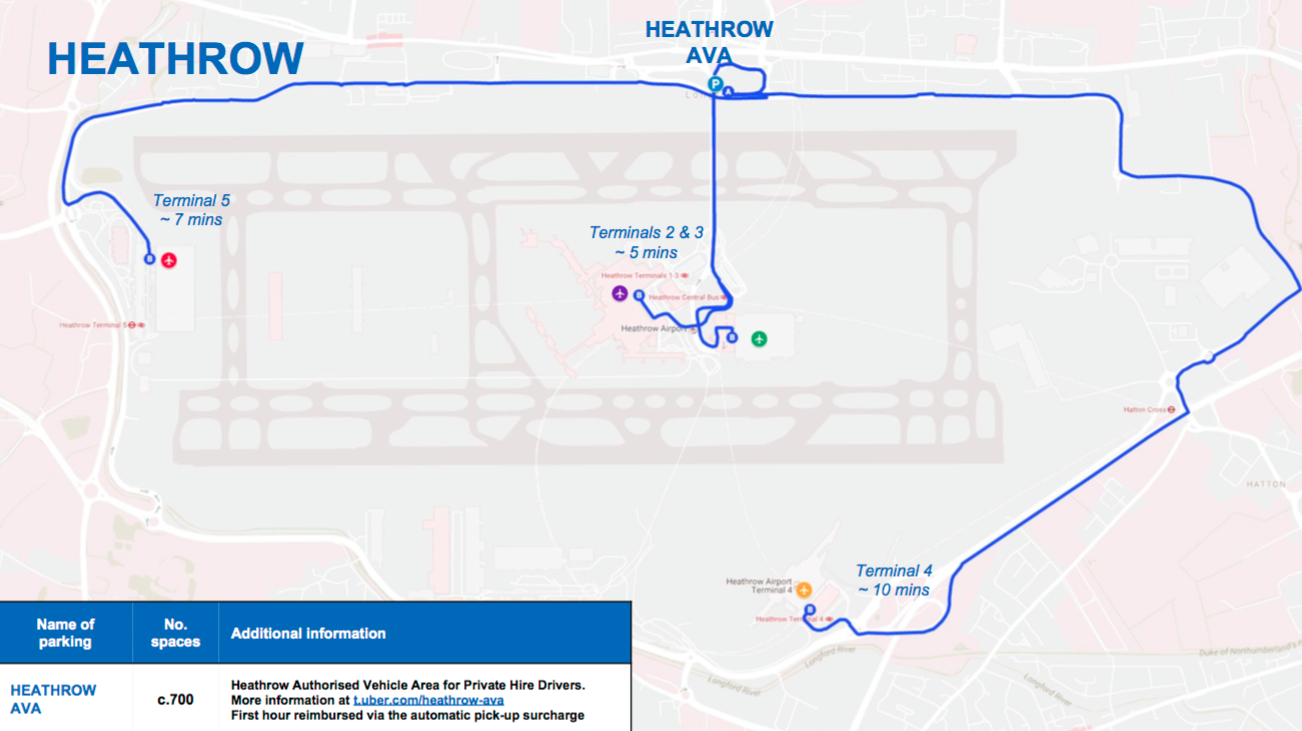 London Heathrow Airport Uber Waiting Area - Pick Up And Drop Off