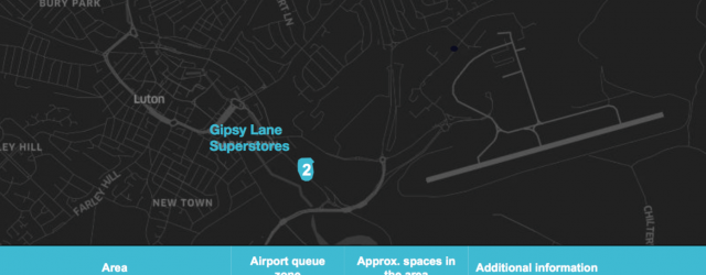 Uber Dedicated Waiting spots for Luton airport pickups