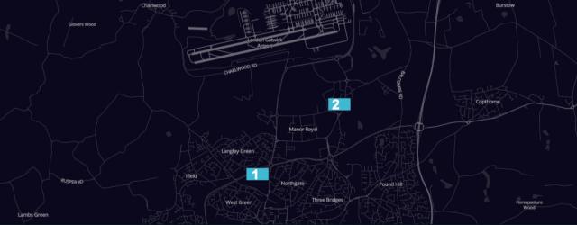 London Gatwick Airport Uber designated waiting spots